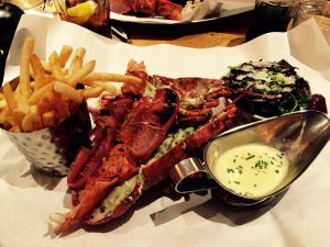 A lagosta do Burger & Lobster